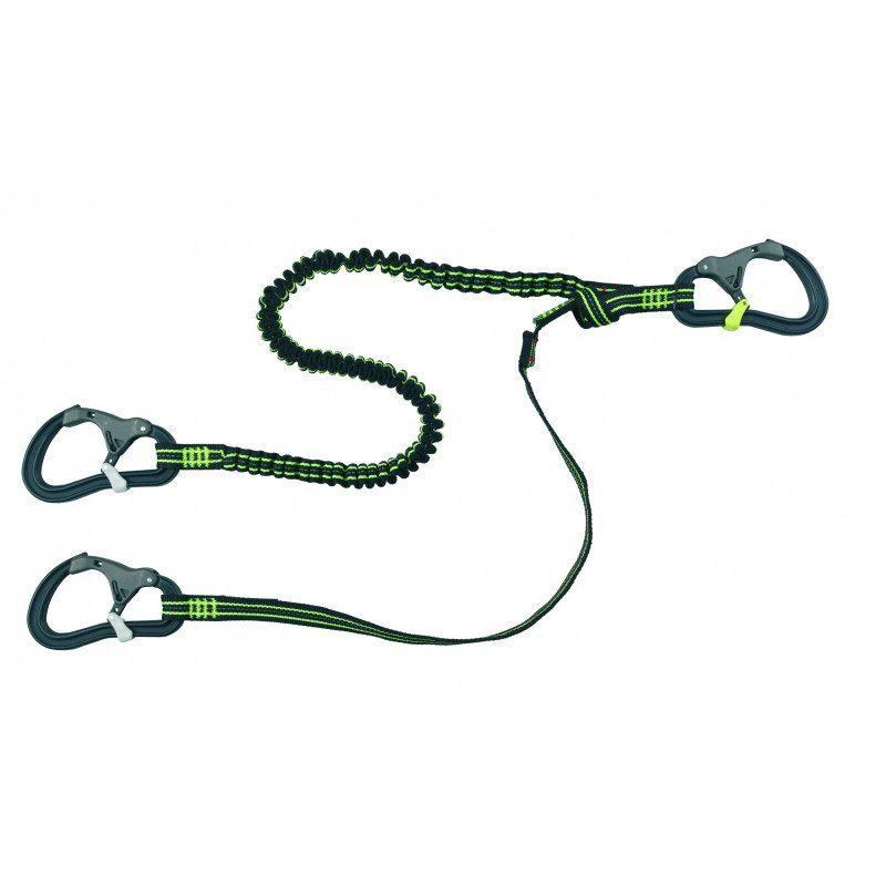 Longe de harnais ProLine - Sangle extensible / 3 mousquetons | Picksea