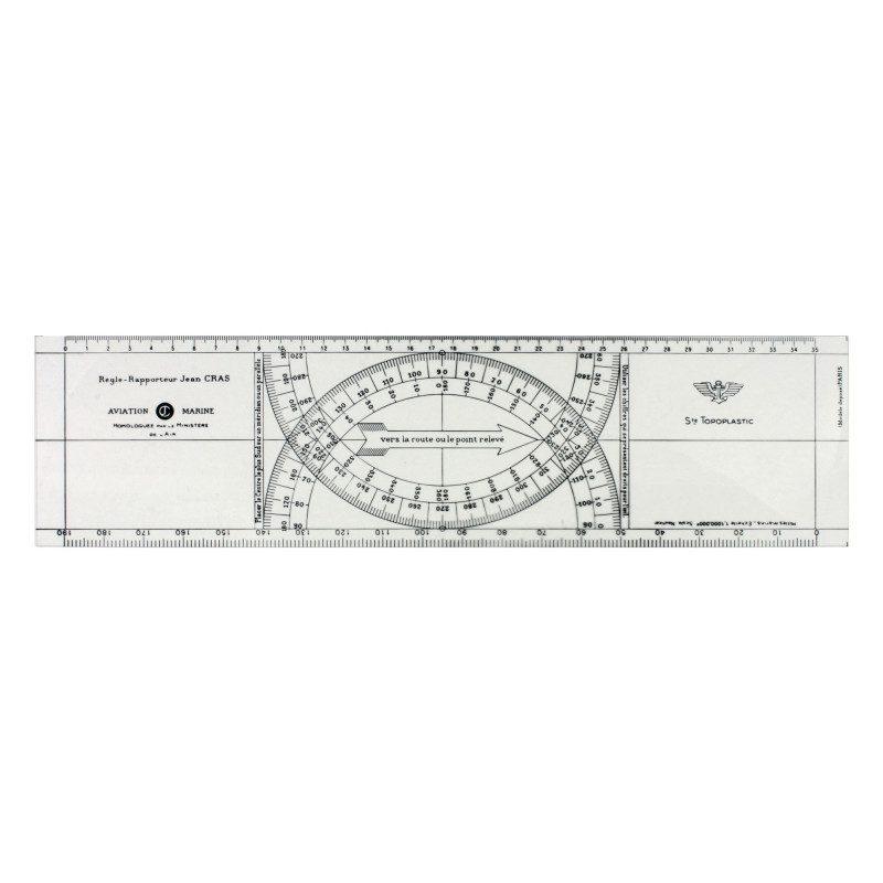 Jean Cras rigid plexiglass ruler 3 mm | Picksea