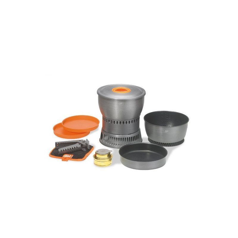 Anodized aluminum cooking set with alcohol stove | Picksea