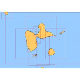 Guadeloupe carte marine