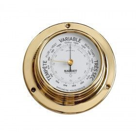 Brass needle barometer...