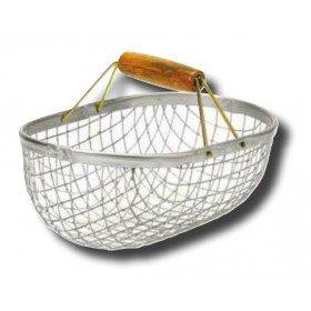 Galvanised steel wire basket