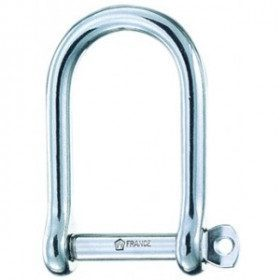 Wide self-locking shackle