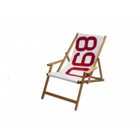 Deckchair with red number