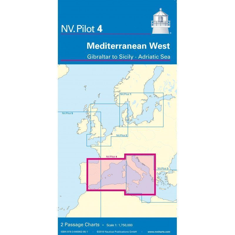 NV Pilot 4 - Carte marine de traversée Méditerranée Ouest | Picksea