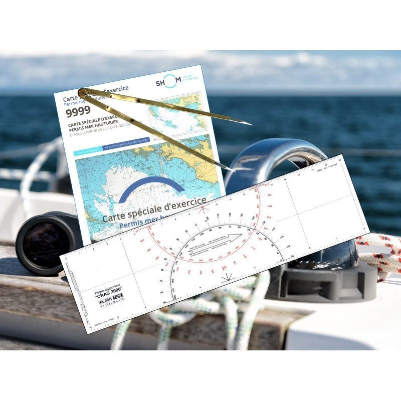 Pack Offshore Permit (exam card + ruler + compass) | Picksea