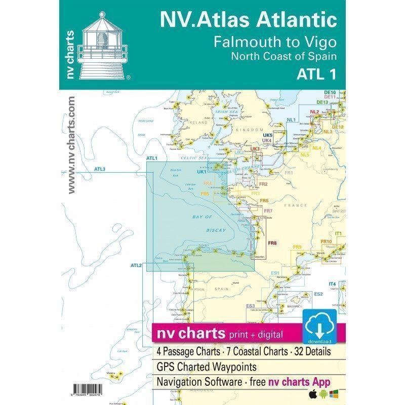 NV-CHARTS   Cartes Marines Zone Atlantique   Picksea