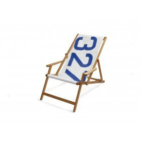Oak deckchair with number...