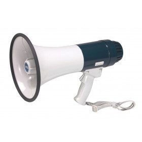 Megaphone with integrated...