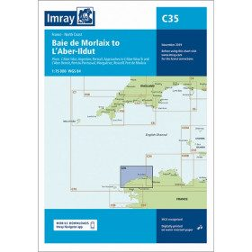 Imray C35 chart Morlaix to...