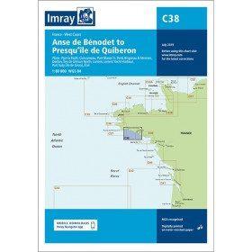 Carte C38 de benodet à quiberon couverture