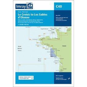 Imray C40 marine chart...