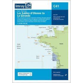 carte Imray C41 des sables d'olonne à la gironde couverture