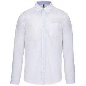 Chemise en Popeline lavée à manches longues
