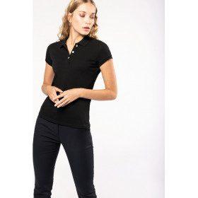 Polo 100 % coton à manches courtes pour femmes, de Kariban.