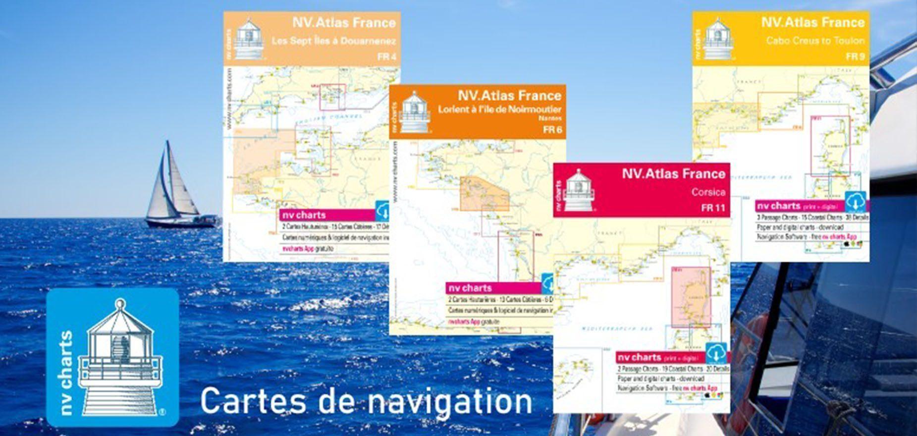 Découvrez les cartes marines de navigation NV-CHARTS Picksea - SAS Nauting
